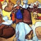 Breton Women after Emile Bernard - 30x40 IN Canvas