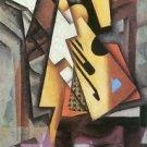 Guitar and stool by Juan Gris - A3 Poster