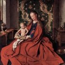 Madonna and child reading by Jan Van Eyck - A3 Poster