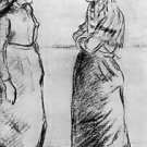 Two Peasant Women - 24x18 IN Canvas