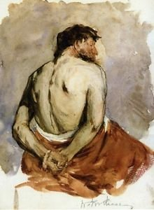 Back of a Male Figure, 1885 - 24x18 IN Canvas