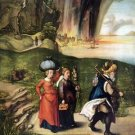 Lot's escape by Durer - 24x18 IN Canvas