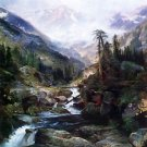 Mountain of the Holy Cross by Thomas Moran - 24x18 IN Canvas
