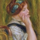 Portrait of a Woman with Green Ribbon, 1905 - 24x18 IN Canvas