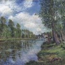Banks of the Loing, 1886 - 24x18 IN Poster