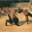 Fighting Faune [1] by Franz von Stuck - 24x18 IN Canvas