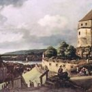 View of Pirna [2] by Canaletto - 24x18 IN Canvas