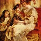 Helene Fourment with two of her children by Rubens - A3 Poster