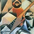 Banjo (guitar) and glasses by Juan Gris - A3 Poster