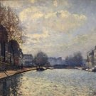 View of the Canal St. Martin, 1870 - A3 Poster