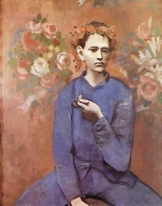 Boy with a Pipe [1905] - 24x18 IN Poster