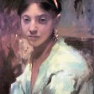 Head of a Capri Girl by John Singer Sargent - 24x32 IN Canvas