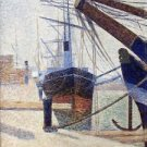 Corner of the Harbour of Honfleur 1886 - Poster (24x32IN)