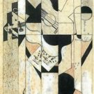 Guitar and glass by Juan Gris - A3 Poster