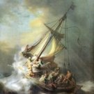 Christ in a storm on the sea of Galilee by Rembrandt - 30x40 IN Canvas