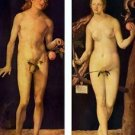 Adam and Eve by Durer - 30x40 IN Canvas