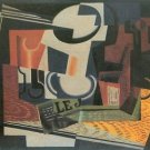 Still Life with Fruit Bowl by Juan Gris - 24x18 IN Canvas