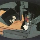 Playing cards and siphon by Juan Gris - A3 Poster