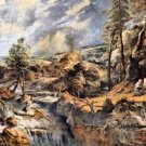 Thunderstorms landscape with Philemon and Baucis by Rubens - A3 Poster
