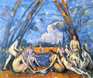 Large Bathers 2 by Cezanne - 24x18 IN Canvas