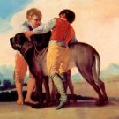 Boys with blood dogs by Goya - A3 Paper Print