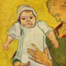 Augustine Roulin with her infant by Van Gogh - 24x18 IN Canvas