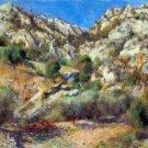Rocks at L'Estage by Renoir - 24x18 IN Canvas