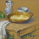 Still Life with Fried Eggs - 24x18 IN Canvas