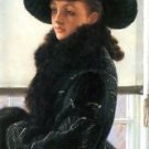 Portrait of Kathleen Newton by Tissot - 24x18 IN Canvas