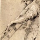 Man carrying a ladder by Rubens - 24x18 IN Canvas