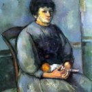 Woman with Doll by Cezanne - 24x18 IN Canvas