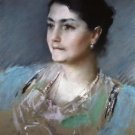 Portrait of Mrs. William Chase, 1900 - 24x18 IN Canvas