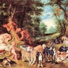 Satyrs and Hounds by Rubens - 24x18 IN Canvas