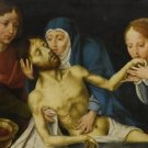 Follower Joos van Cleve. Lamentation of Christ - 24x18 IN Canvas