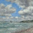 Shore of Deauville, 1896 - 24x18 IN Canvas