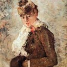 Winter (woman with Muff) by Morisot - 24x32 IN Canvas