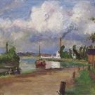 Landscape of the Oise, 1876 - 24x32 IN Canvas