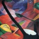 Deer in the forest II by Franz Marc - A3 Paper Print