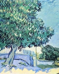 Blossoming chestnut tree [2] by Van Gogh - A3 Paper Print