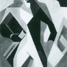 Harlequan with Stool by Juan Gris - A3 Paper Print