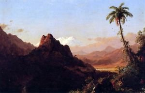 In the tropics by Frederick Edwin Church - A3 Paper Print