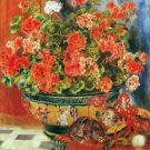 Geraniums and cats by Renoir - A3 Poster