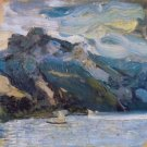Lake Traunsee with mountains by Richard Gerstl - 24x32 IN Canvas
