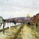 Charles River and Beacon Hill, 1890-92 - 24x32 IN Canvas