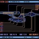 Vinteja charts of - LCARS UFP Constitution Class Starship B - A3 Paper Print