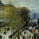 Boulevard of Capucines by Monet - 24x18 IN Canvas