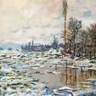 Break Up of Ice by Monet - 24x18 IN Canvas