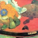 Still Life with fete by Gauguin - 24x18 IN Canvas