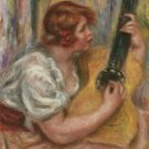 Woman with a Guitar, 1918 - 24x18 IN Canvas