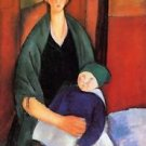 Modigliani - Sitting woman with child - 24x18 IN Canvas